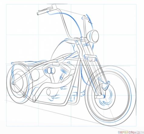 Як Намалювати Мотоцикл?
