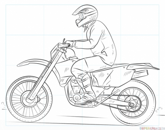 Як Намалювати Мотоцикл (Поетапно)?
